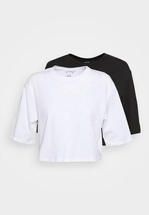ELINA TOP 2 PACK - Basic T-shirt - black/white
