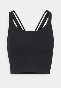 Cotton On Body - SEAMLESS DOUBLE STRAP VESTLETTE - Top - black - 0