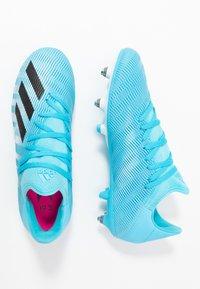 adidas Performance - X 19.3 SG - Screw-in stud football boots - bright cyan/core black/shock pink - 1