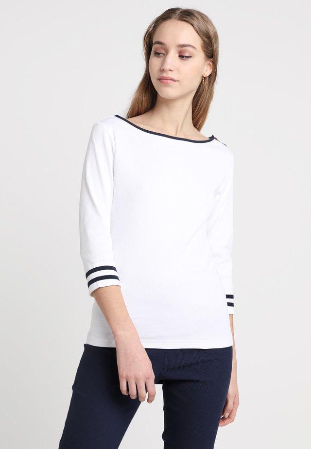 CHARLOTTE - Topper langermet - white