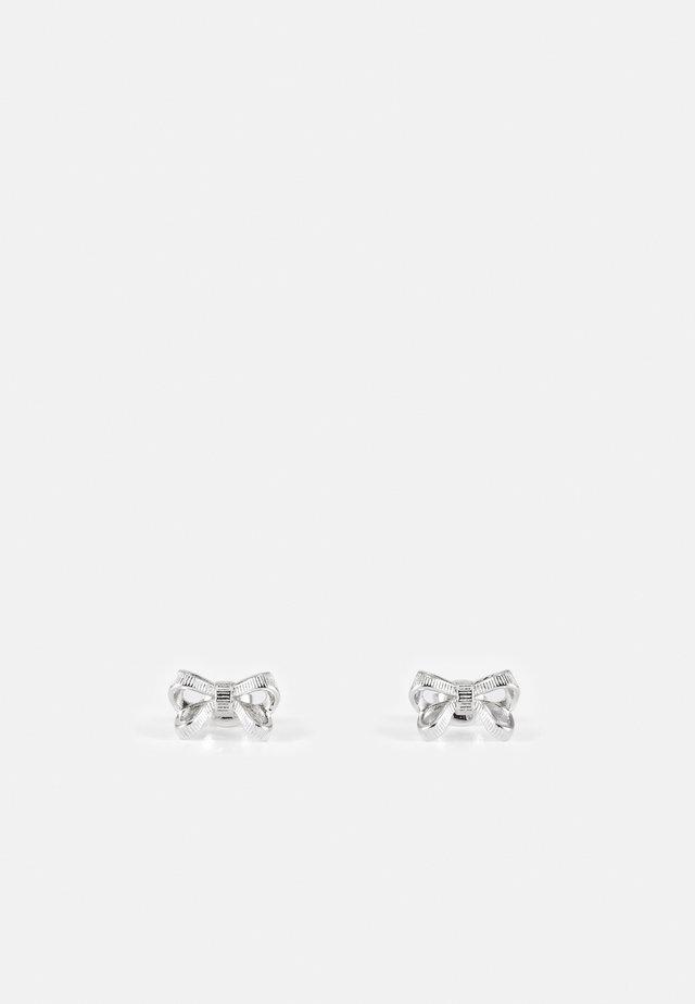POLLAY PETITE BOW STUD EARRING - Orecchini - silver-coloured