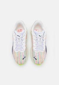 Puma - MAGNIFY NITRO  - Neutral running shoes - white/sunblaze/green glare - 3