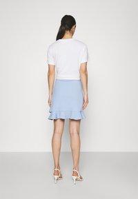 Forever New - LUCY FRILL SKIRT - Mini skirt - placid sky - 2