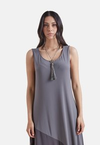 Elena Mirò - Jersey dress - grigio - 2