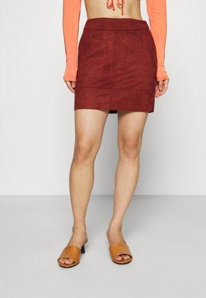 ONLJULIE BONDED SKIRT  - Mini skirt - fired brick