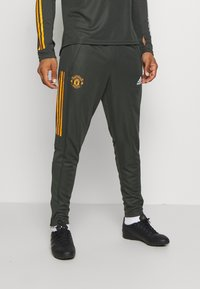 adidas Performance - MANCHESTER UNITED AEROREADY FOOTBALL PANTS - Klubtrøjer - olive - 0