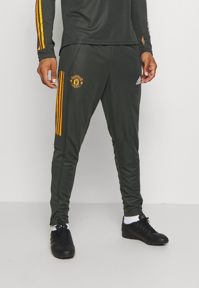 MANCHESTER UNITED AEROREADY FOOTBALL PANTS - Fanartikel - olive