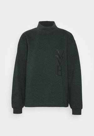LOGO - Long sleeved top - ivy green
