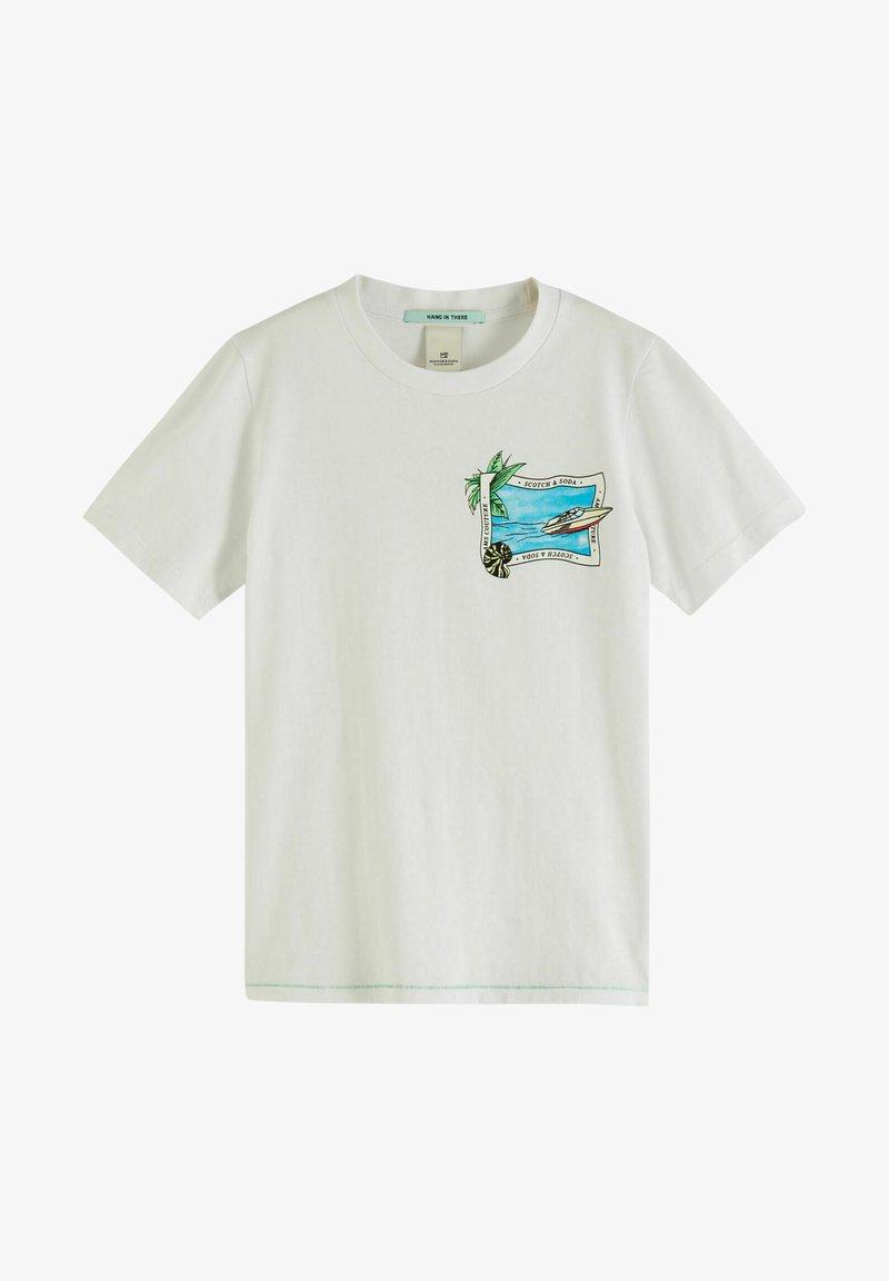 Scotch & Soda - Print T-shirt - white