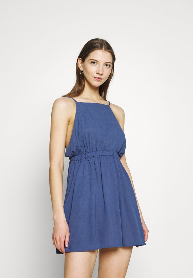 FRENCHIE OPEN BACK MINI - Vestito estivo - coastal blue