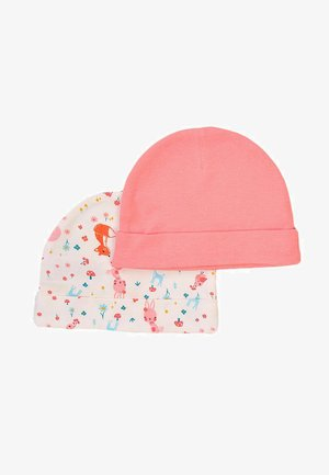 2 PACK  - Beanie - pink/white