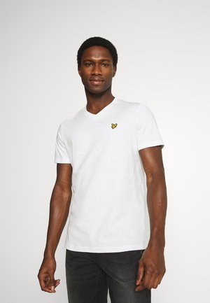 V NECK - T-shirt - bas - off-white
