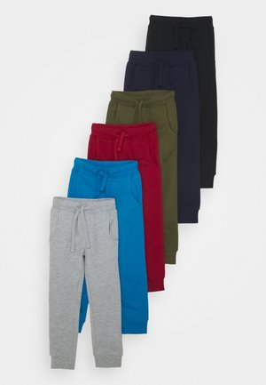 6 PACK - Pantalones deportivos - light grey/red/dark blue