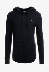 Hollister Co. - WAFFLE HOODS  - Jersey con capucha - black - 3