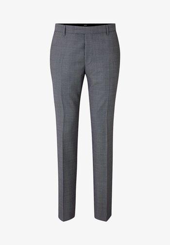 BLAYR - Suit trousers - blau gemustert