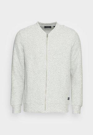 JJQUILT ZIP - Tröja med dragkedja - light grey melange