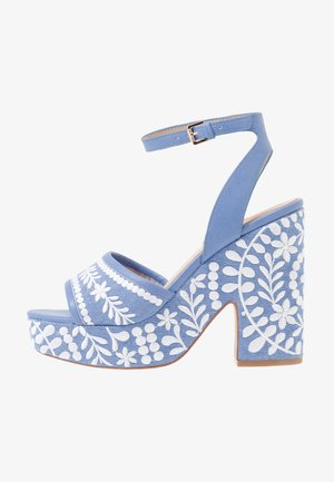 QUINTINIA - High heeled sandals - blue