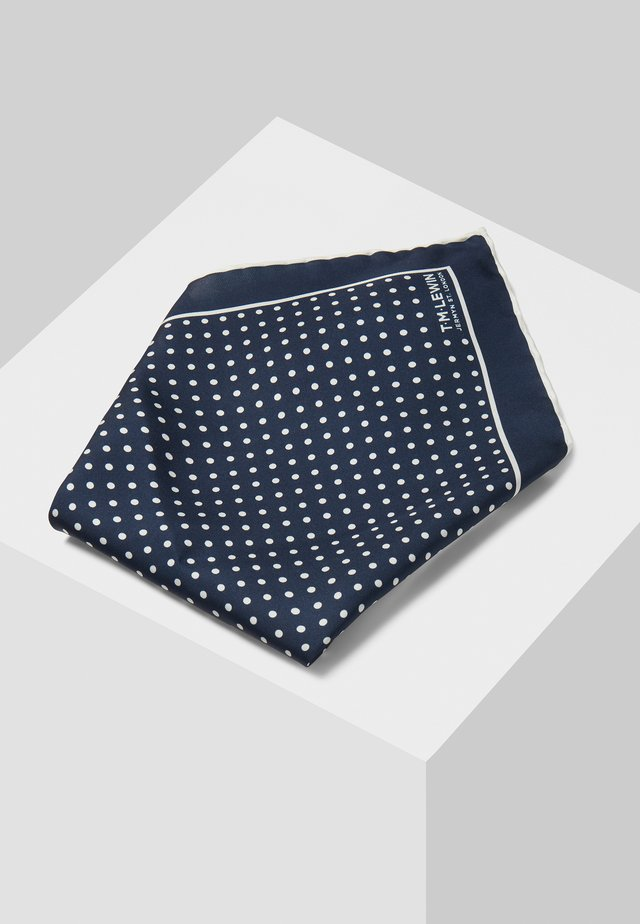 Pocket square - mottled dark blue