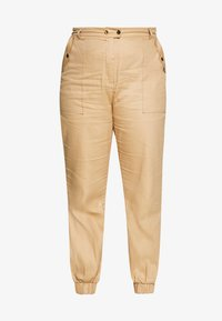 Missguided Plus - CLEAN TWILL OVERSIZED POCKET DETAIL TROUSER - Bukse - camel - 3