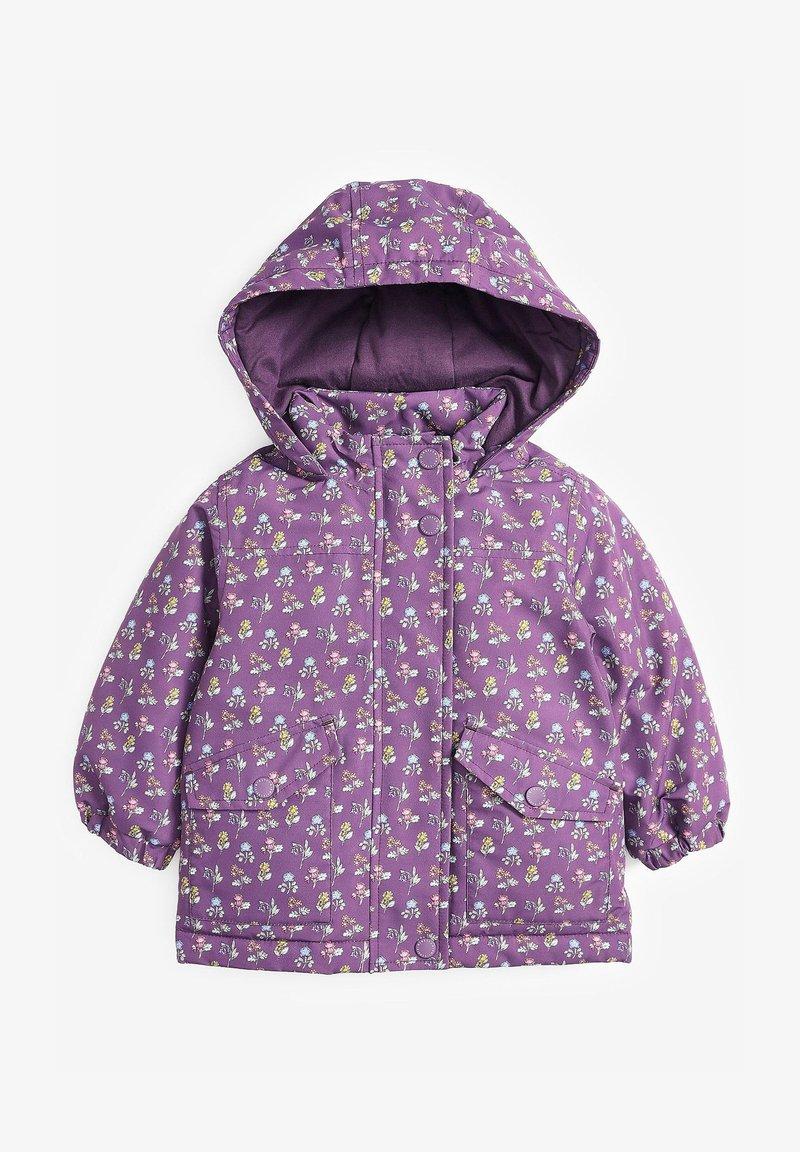 Next - FLORAL - Winter jacket - berry