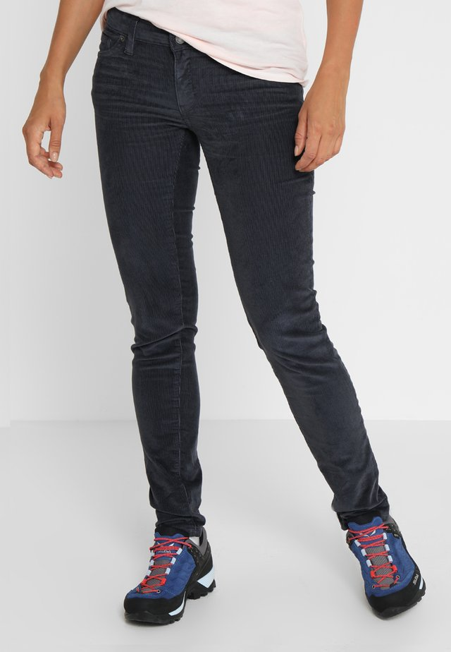 FITTED PANTS - Kangashousut - smolder blue
