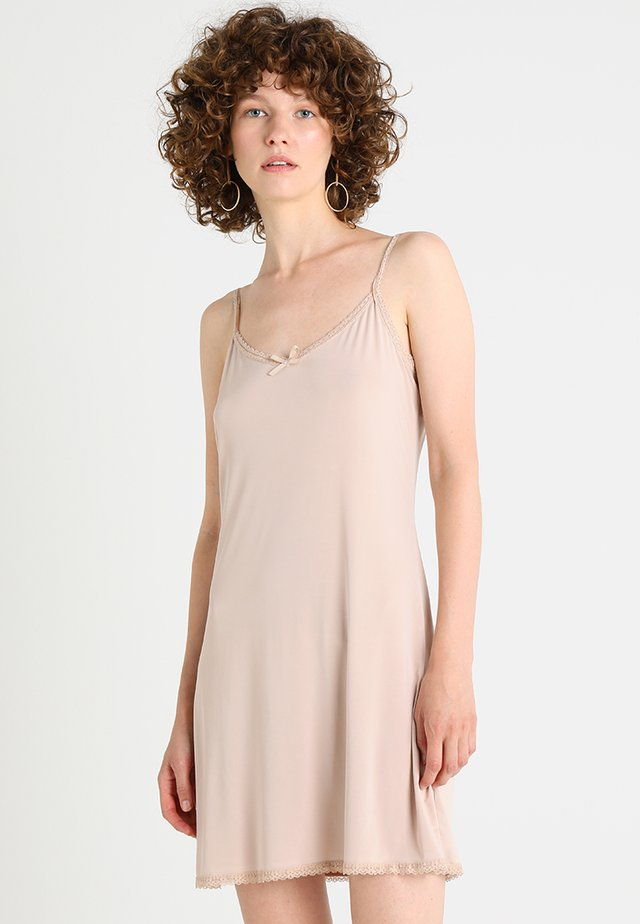 LISE UNDERDRESS - Jersey dress - beige