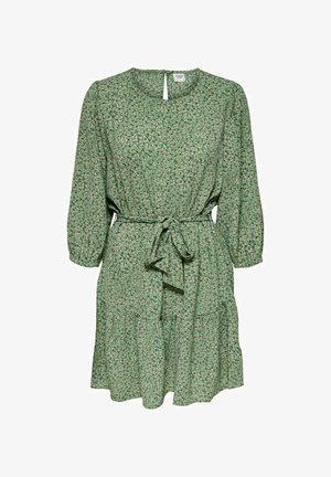 JDYPIPER 3/4 PUFF DRESS - Day dress - basil