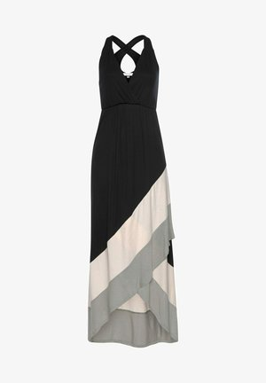 Maxi dress - schwarz-rose-taupe