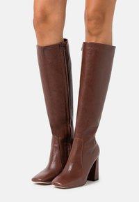 Bianca Di - High heeled boots - choco - 0