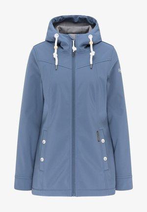 Soft shell jacket - graublau