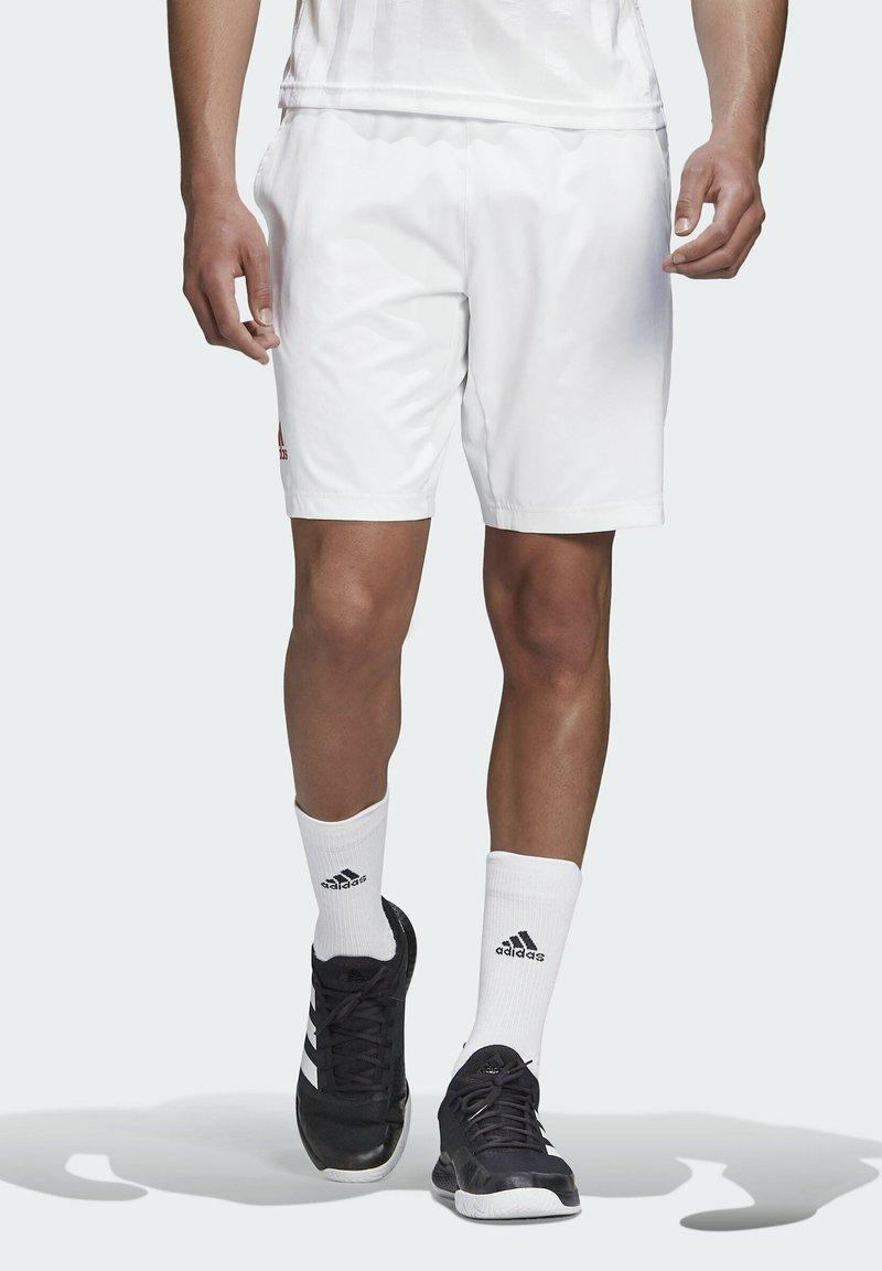 adidas Performance - ERGO SHORT - Sportovní kraťasy - white / scarlet