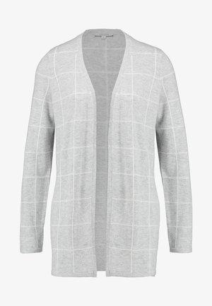 JACKET SINGLE CHECK - Strikjakke /Cardigans - light grey melange