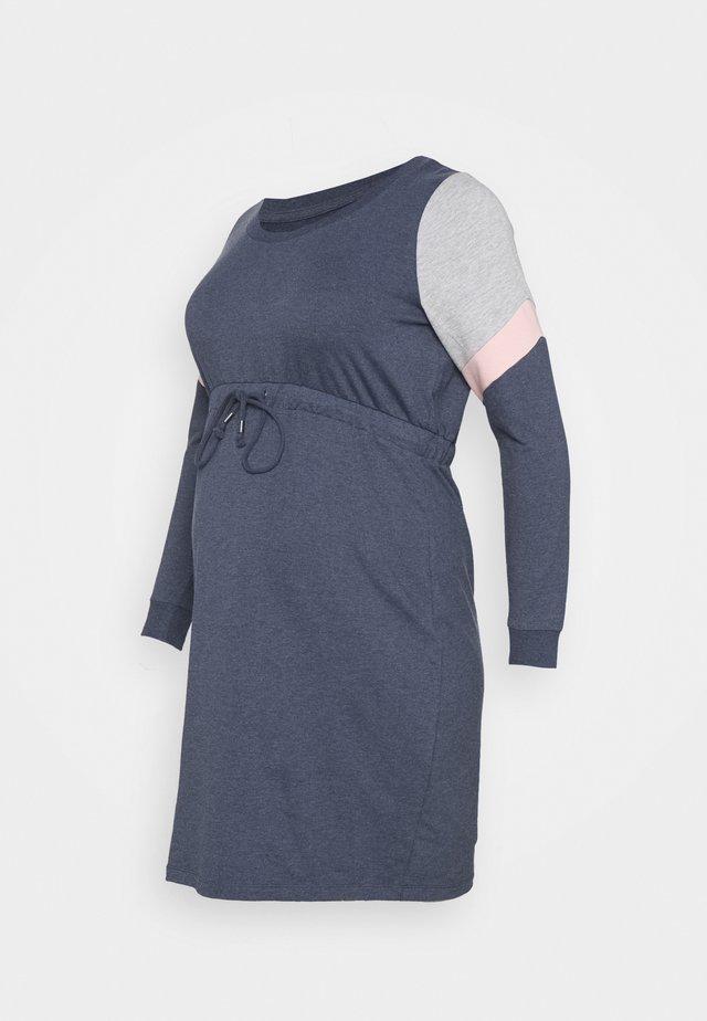 MLMENA DRESS - Vardagsklänning - navy blazer/melange