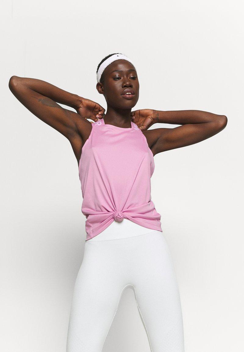 Nike Performance - DRY ELASTIKA TANK - Sports shirt - beyond pink/white