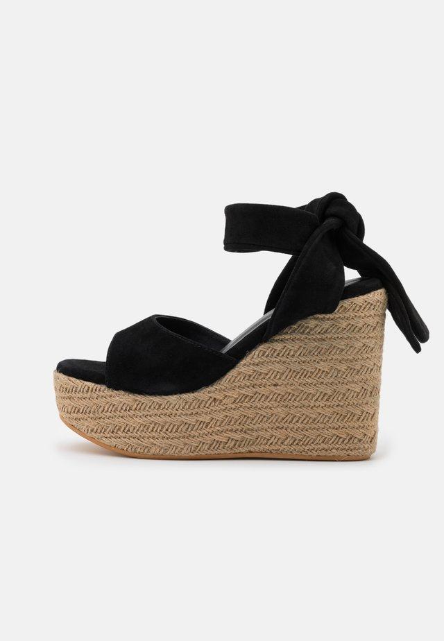 OPALE - Korolliset sandaalit - nero