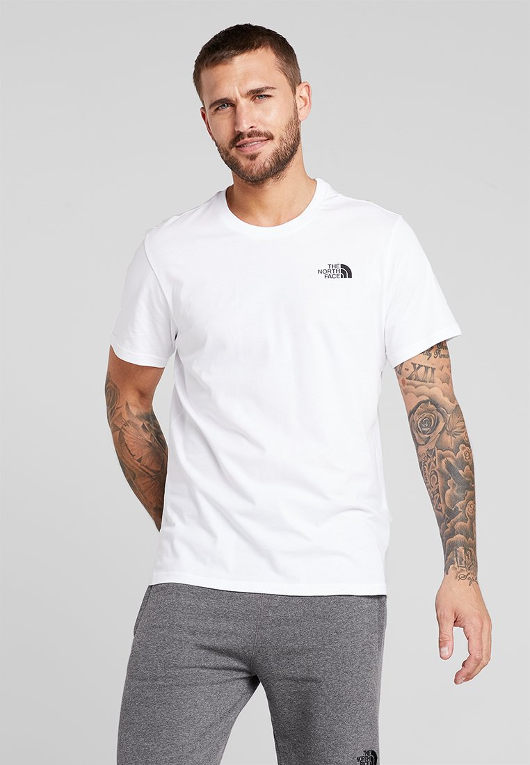 The North Face - MENS SIMPLE DOME TEE - Basic T-shirt - white