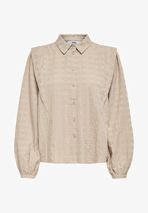 LANGÄRMELIGE - Button-down blouse - humus