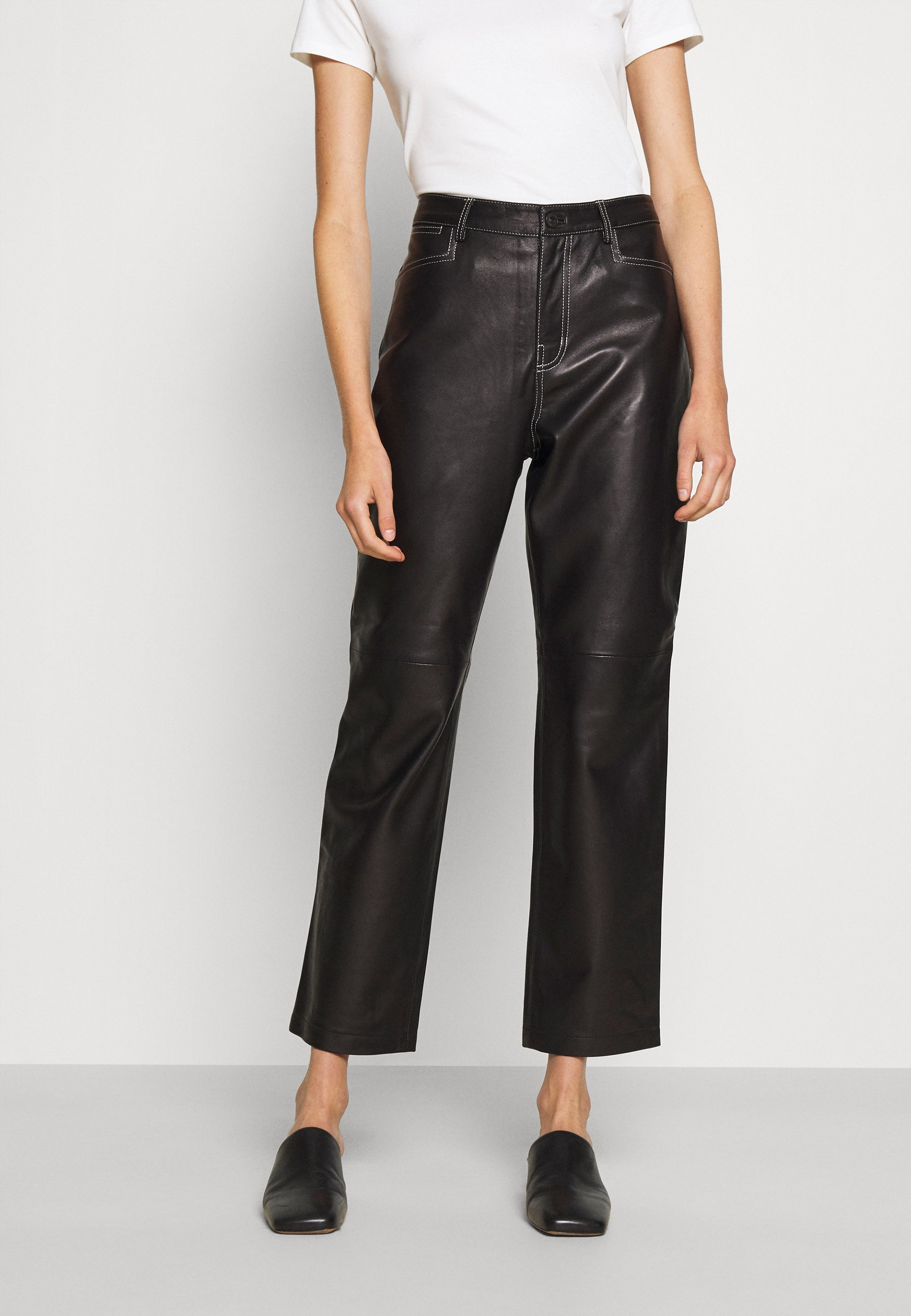 Women STRAIGHT PANT - Leather trousers