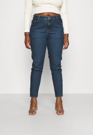 SLFANNA ROW - Slim fit jeans - dark blue denim