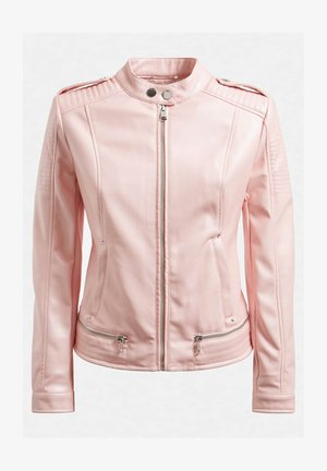 Faux leather jacket - rose