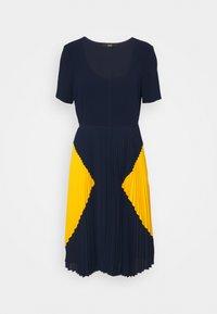 PARIS PLEATED DRESS - Day dress - navy sun