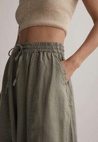 OYSHO - Trousers - khaki - 3