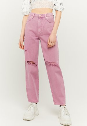 HIGH WAIST MOM - Relaxed fit jeans - purple