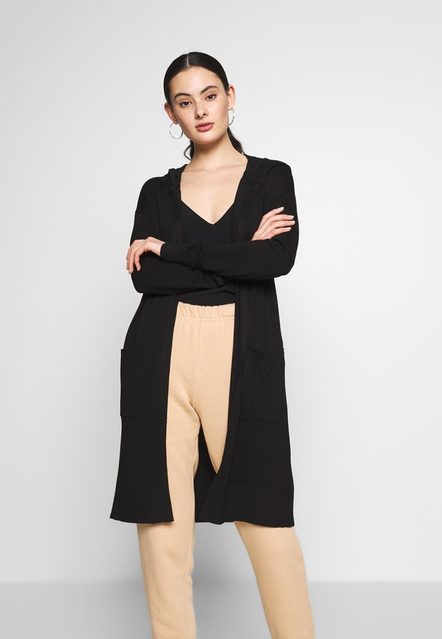 NMOWEN LONG CARDIGAN - Gilet - black