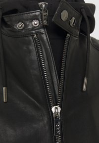 KARL LAGERFELD - BIKER JACKET - Leather jacket - black - 3