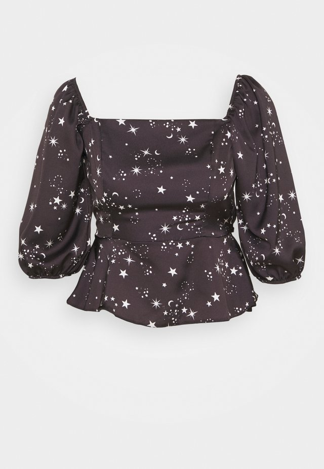 AVA STAR HIGH NECK SHELL - Blouse - black