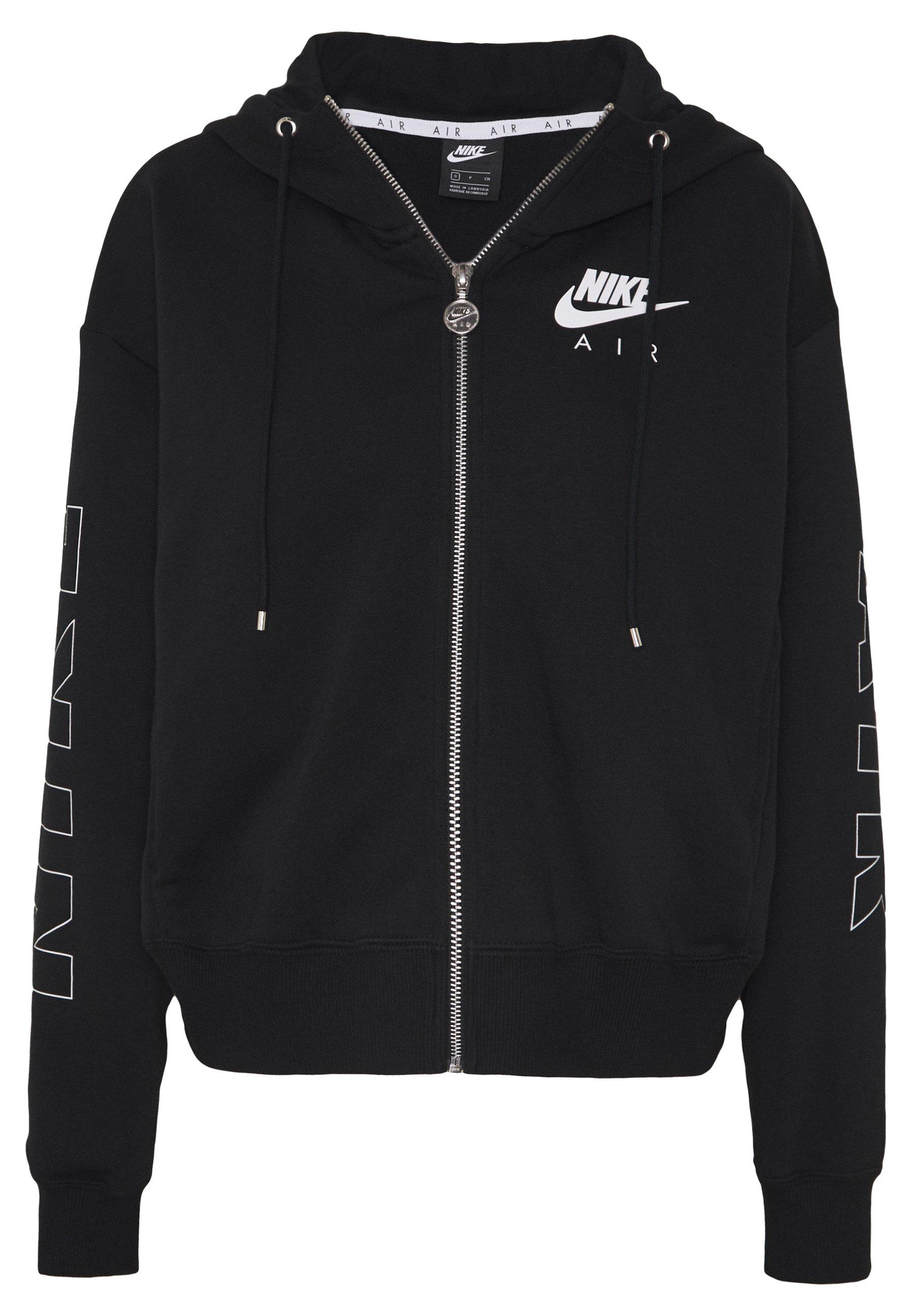Nike Sportswear AIR HOODIE Sweatjacke blackice silver