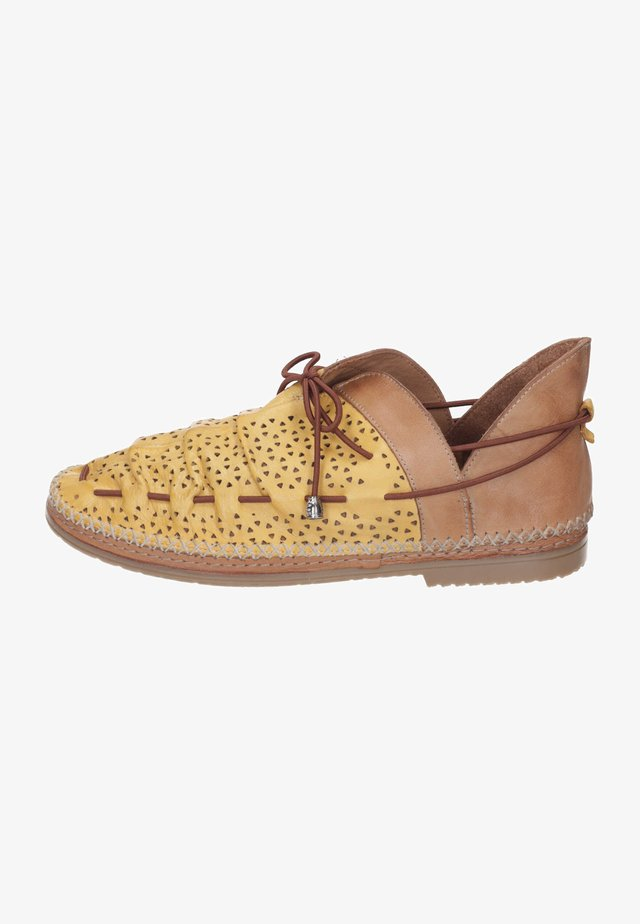 Casual lace-ups - gelb