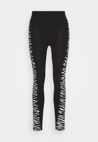 DKNY - HIGH WAIST ZEBRA PLACED PRINT - Leggings - white - 3
