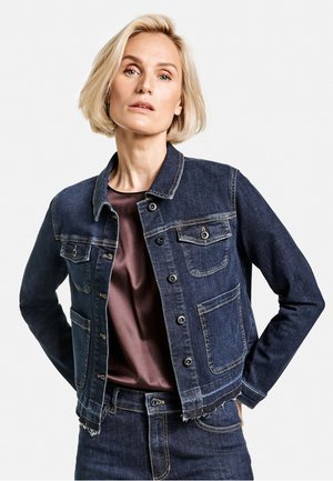 USED EFFEKTEN - Denim jacket - blue denim mit use